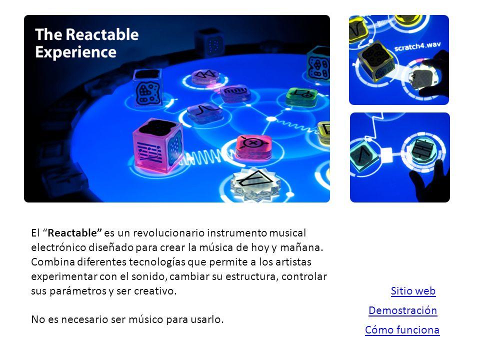 El Reactable es un revolucionario instrumento musical electrónico diseñado para crear la música de hoy y mañana.