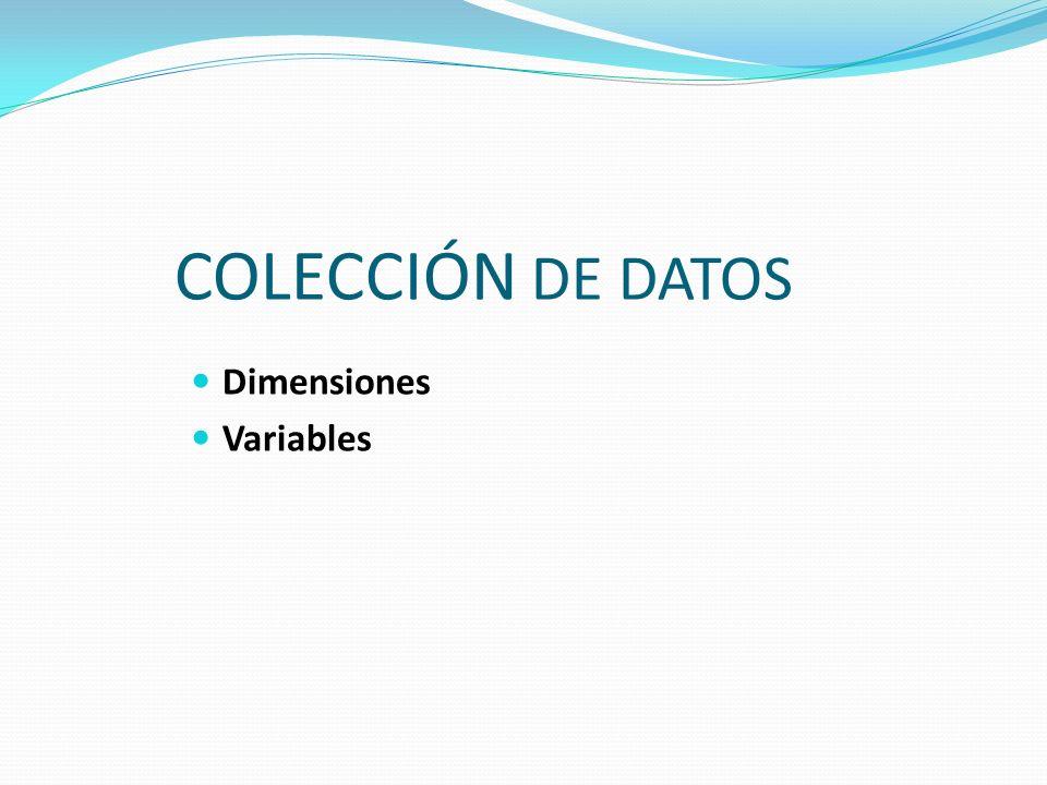 Las dimensiones de un cubo son atributos relativos a las variables, son las perspectivas de análisis de las variables (forman parte de la tabla de dimensiones).