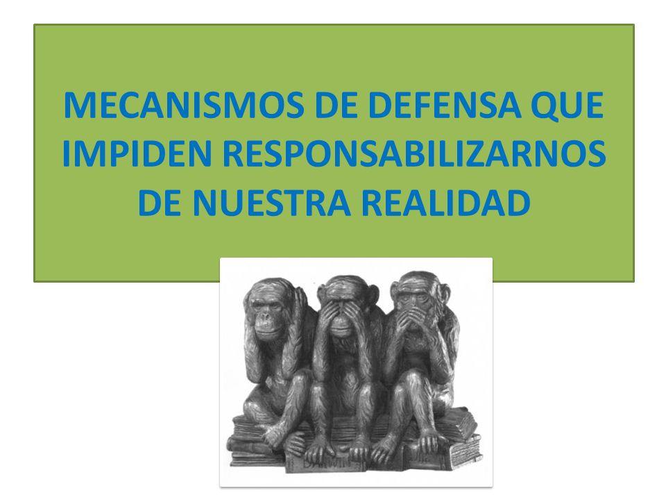 MECANISMOS DE DEFENSA QUE IMPIDEN RESPONSABILIZARNOS DE NUESTRA REALIDAD