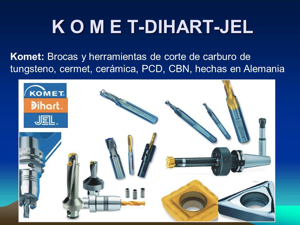 K O M E T-DIHART-JEL K O M E T-DIHART-JEL Komet: Brocas y herramientas de corte de carburo de tungsteno, cermet, cerámica, PCD, CBN, hechas en Alemani