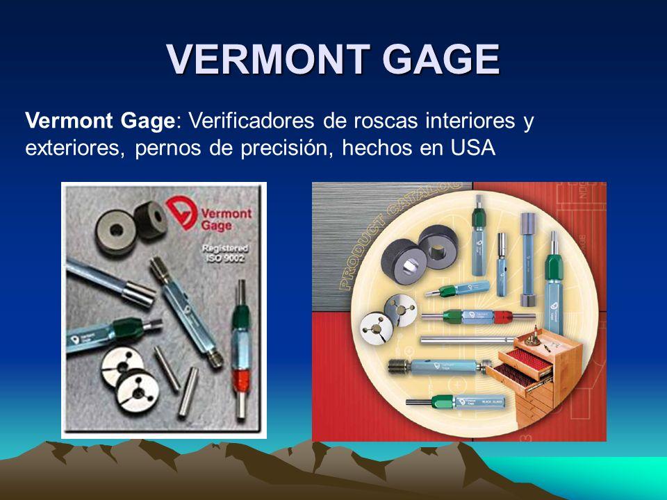 VERMONT GAGE Vermont Gage: Verificadores de roscas interiores y exteriores, pernos de precisión, hechos en USA