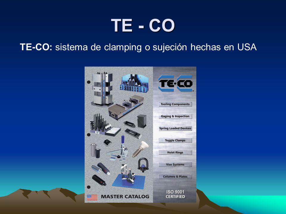 TE - CO TE-CO: sistema de clamping o sujeción hechas en USA