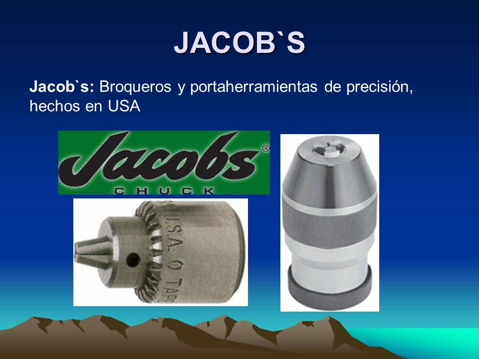 JACOB`S Jacob`s: Broqueros y portaherramientas de precisión, hechos en USA