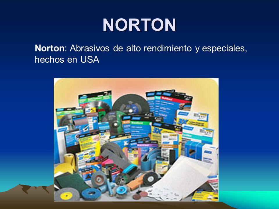 NORTON Norton: Abrasivos de alto rendimiento y especiales, hechos en USA