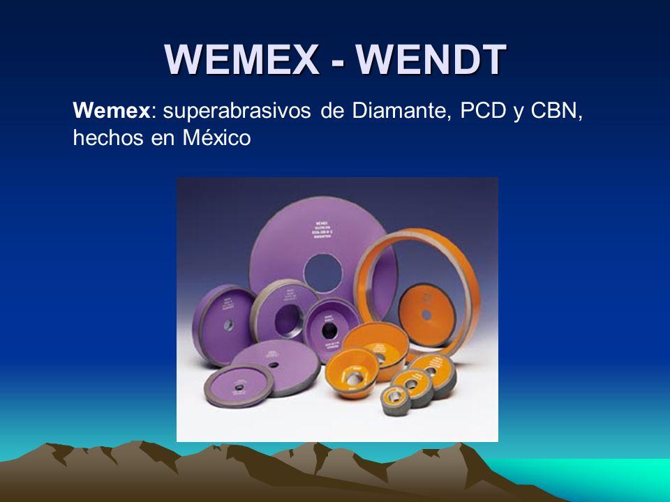 WEMEX - WENDT Wemex: superabrasivos de Diamante, PCD y CBN, hechos en México