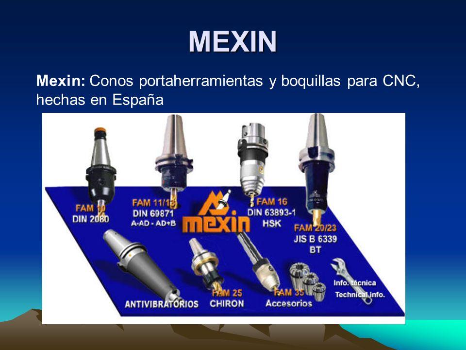 MEXIN Mexin: Conos portaherramientas y boquillas para CNC, hechas en España