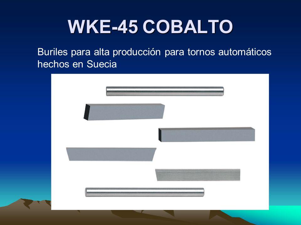 WKE-45 COBALTO Buriles para alta producción para tornos automáticos hechos en Suecia