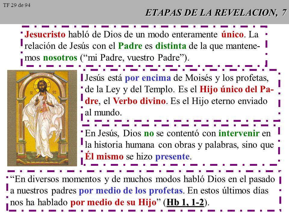 ETAPAS DE LA REVELACION, 6 A través de las diversas etapas de la historia sagrada, Dios ha preparado a su pueblo para la Revelación definitiva en Jesu