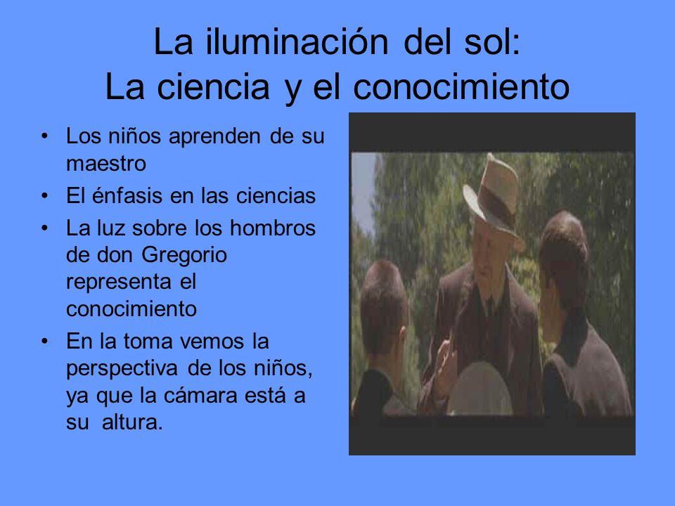 La iluminación del sol: La ciencia y el conocimiento Los niños aprenden de su maestro El énfasis en las ciencias La luz sobre los hombros de don Grego