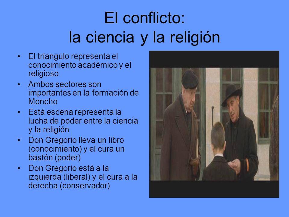 El conflicto: la ciencia y la religión El tríangulo representa el conocimiento académico y el religioso Ambos sectores son importantes en la formación