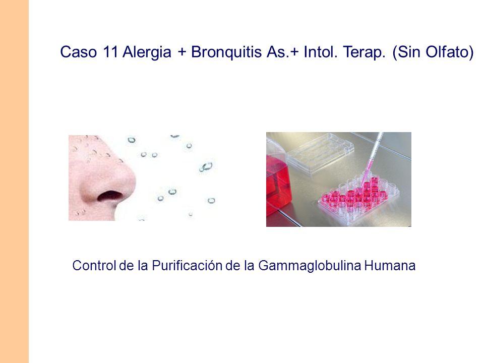 Caso 11 Alergia + Bronquitis As.+ Intol. Terap. (Sin Olfato) Control de la Purificación de la Gammaglobulina Humana