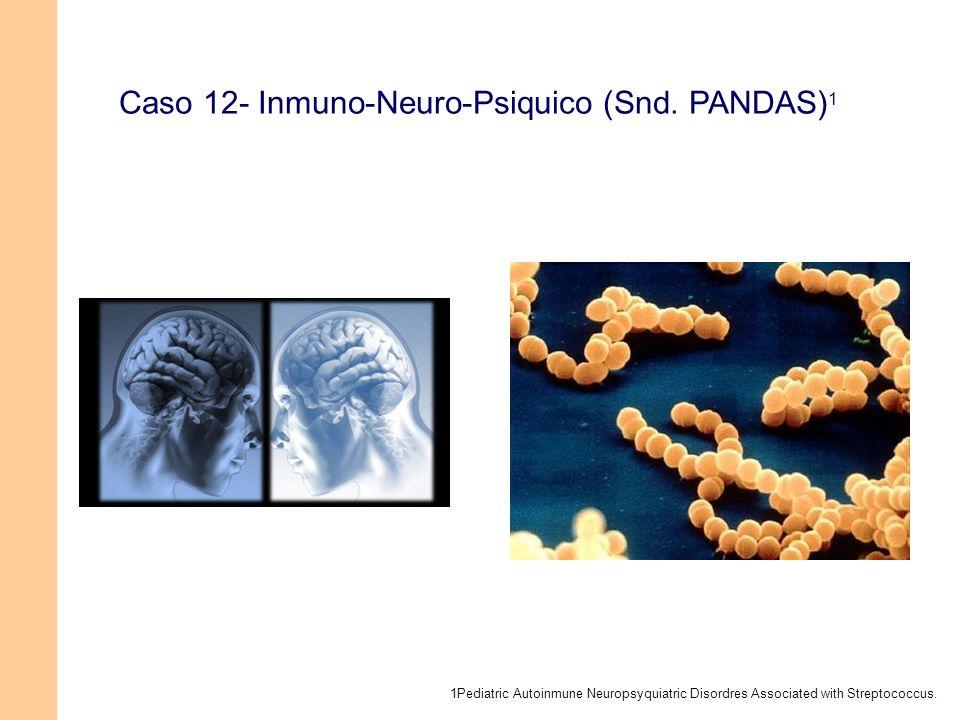 Caso 12- Inmuno-Neuro-Psiquico (Snd. PANDAS) 1 1Pediatric Autoinmune Neuropsyquiatric Disordres Associated with Streptococcus.