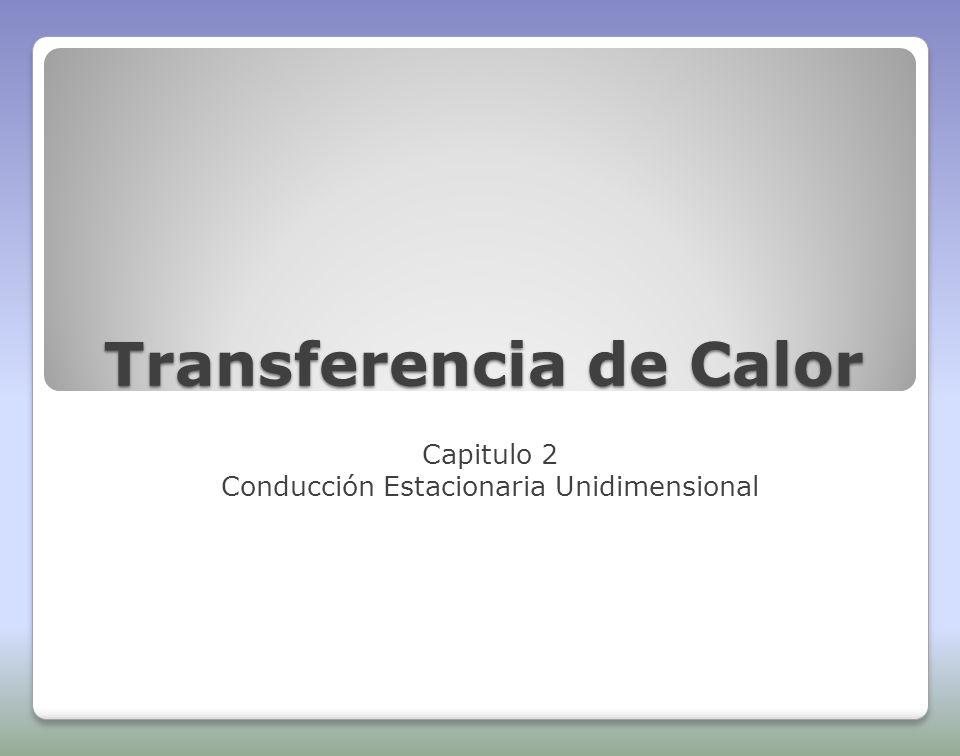 Transferencia de Calor Capitulo 2 Conducción Estacionaria Unidimensional