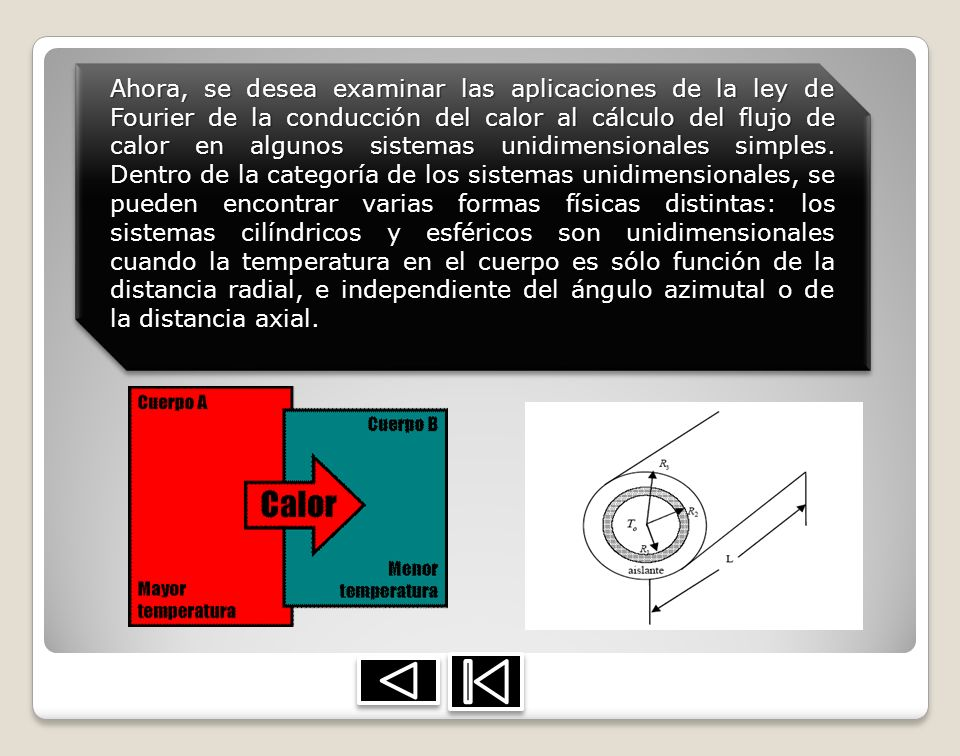 Ahora, se desea examinar las aplicaciones de la ley de Fourier de la conducción del calor al cálculo del flujo de calor en algunos sistemas unidimensi
