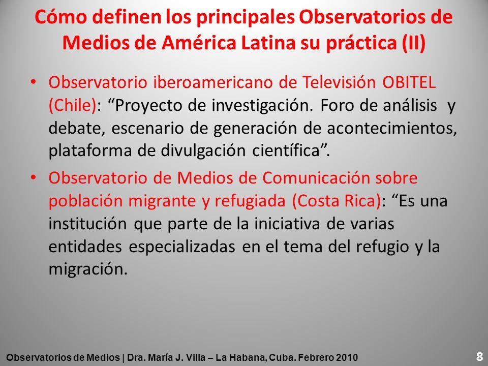 Observatorio iberoamericano de Televisión OBITEL (Chile): Proyecto de investigación. Foro de análisis y debate, escenario de generación de acontecimie