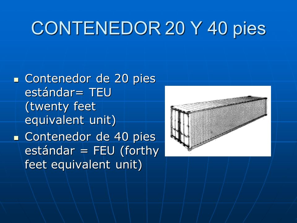 MEDIDAS ESTANDAR CONTENEDOR (2/2)