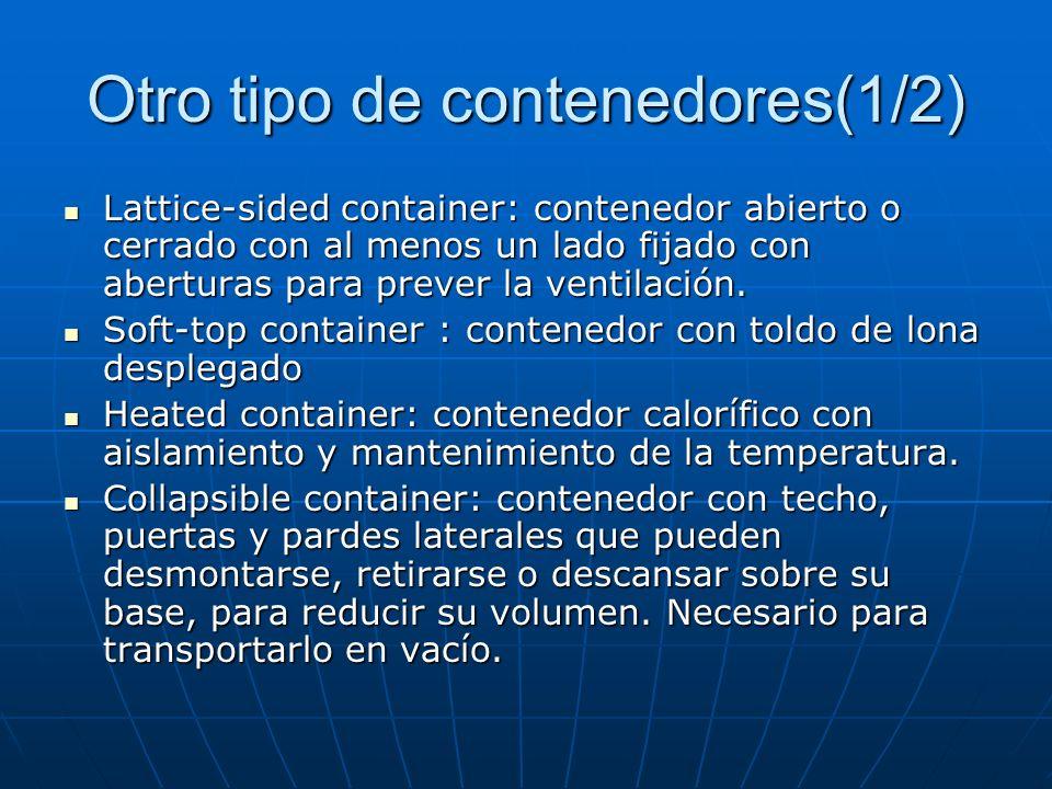 Otros tipos de contenedores(1/3) Bluck freight container: usado para el transporte de material a granel Bluck freight container: usado para el transpo