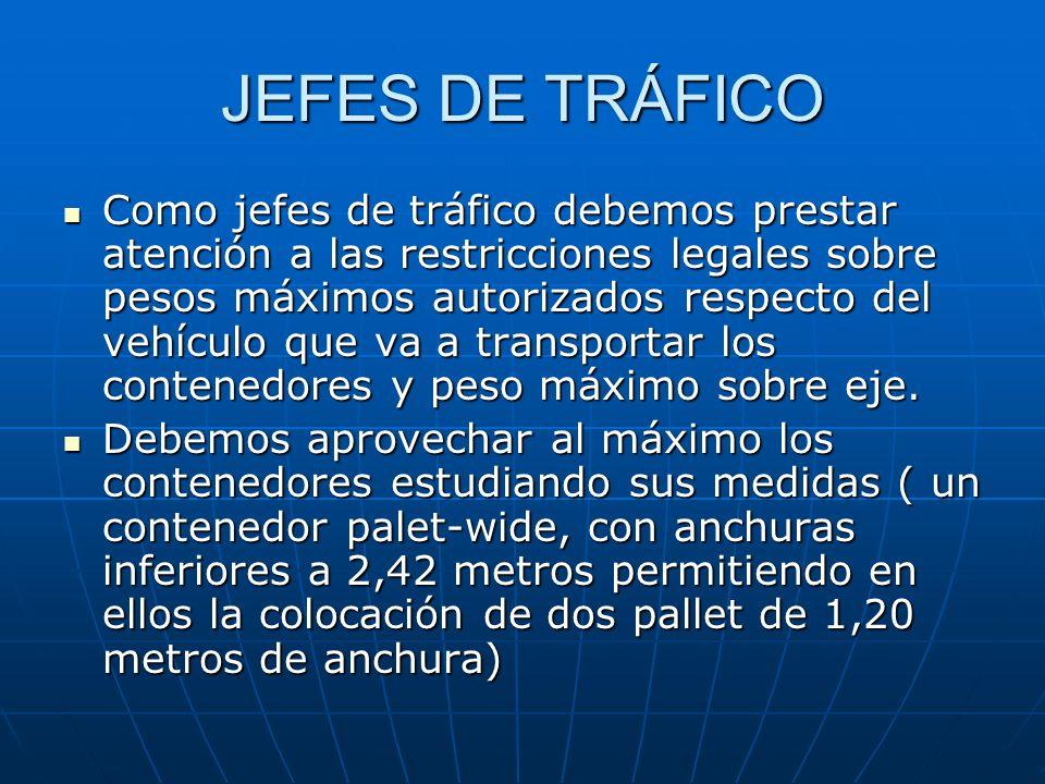 RÉGIMEN DE LOS CONTENEDORES Cuando los transitarios operen mediante contenedores, se habrá de tener en cuenta lo siguiente: Cuando los contenedores se