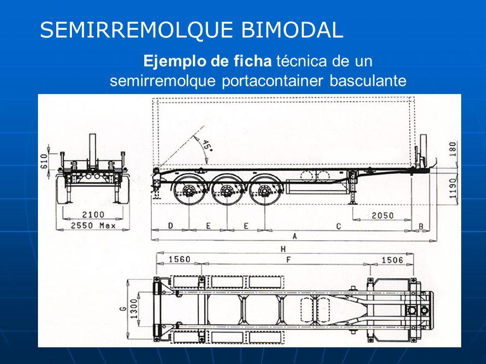 SEMIRREMOLQUE Vehículo no autopropulsado diseñado y construido para ser acoplado a un tractocamión, sobre el que reposa parte del mismo, por medio de