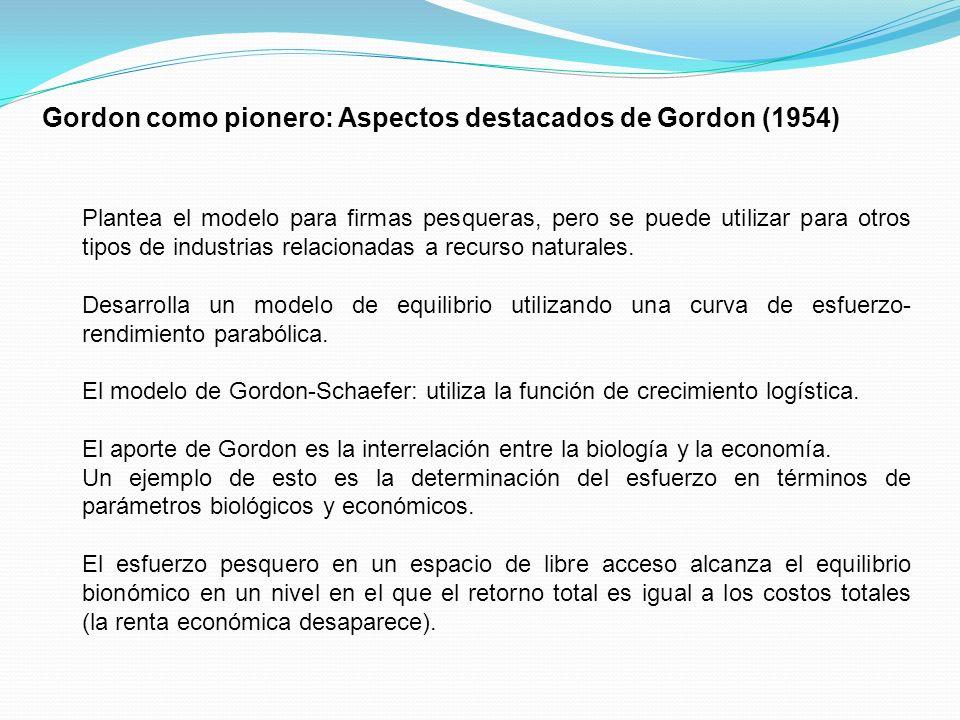 El tratamiento Post Gordon (1954) – Hardin (1968) Comentarios Previos: Olson, M.
