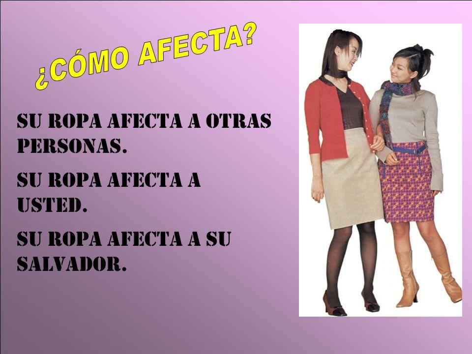 Su Ropa afecta a otras personas. Su ropa afecta a usted. Su ropa afecta a su Salvador.