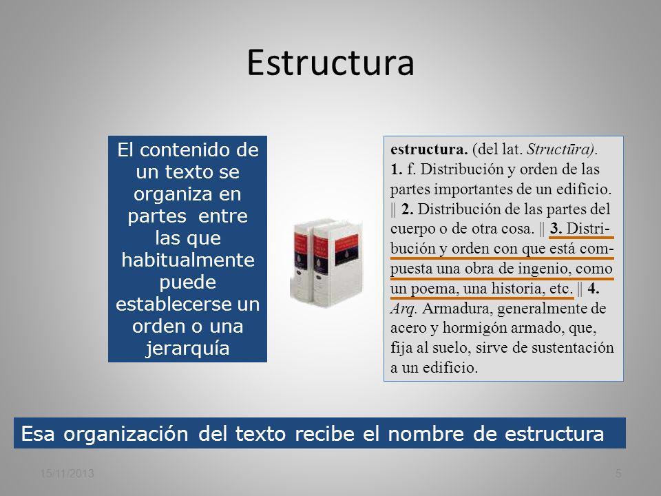 1 LA ESTRUCTURA /ORGANIZACIÓN DE LAS IDEAS. PRIMERA PREGUNTA. (Puntuación máxima 15 puntos.) 15/11/20134