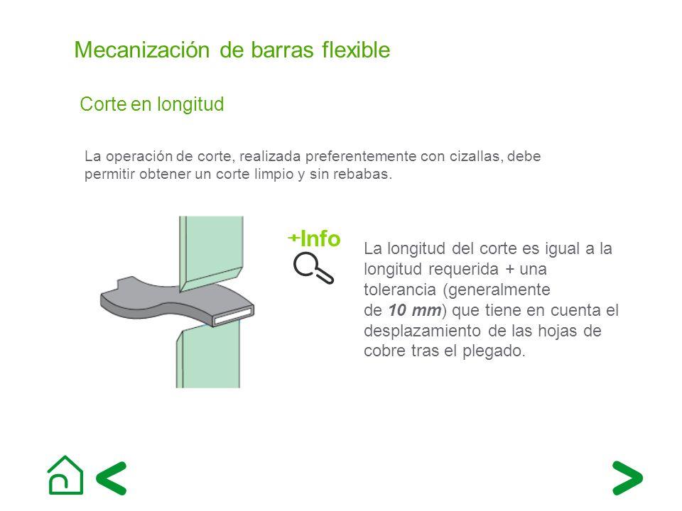 Mecanización de barras flexible Corte en longitud La operación de corte, realizada preferentemente con cizallas, debe permitir obtener un corte limpio