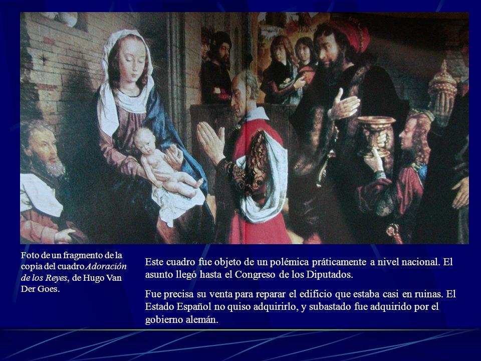 Foto de un fragmento de la copia del cuadro Adoración de los Reyes, de Hugo Van Der Goes. Este cuadro fue objeto de un polémica práticamente a nivel n