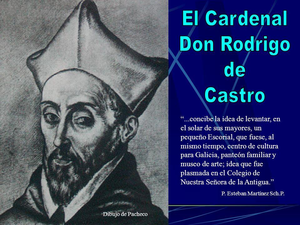 ...concibe la idea de levantar, en el solar de sus mayores, un pequeño Escorial, que fuese, al mismo tiempo, centro de cultura para Galicia, panteón f