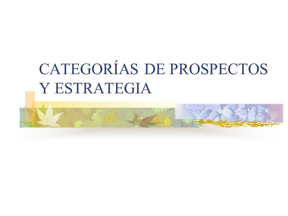 CATEGORÍAS DE PROSPECTOS Y ESTRATEGIA
