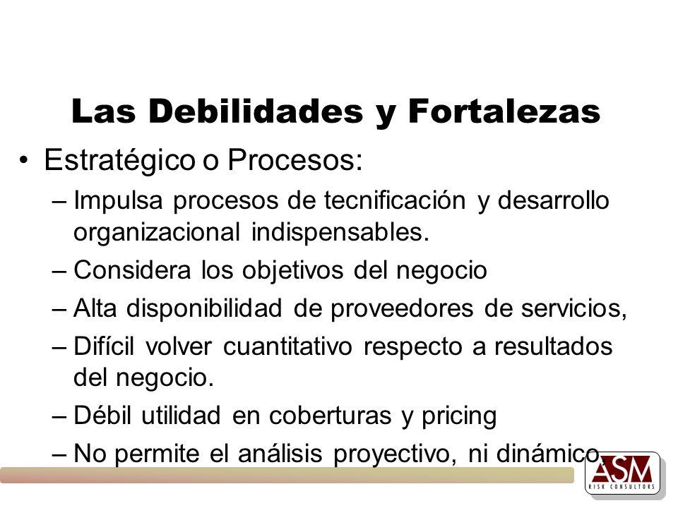 Las Debilidades y Fortalezas Estratégico o Procesos: –Impulsa procesos de tecnificación y desarrollo organizacional indispensables. –Considera los obj