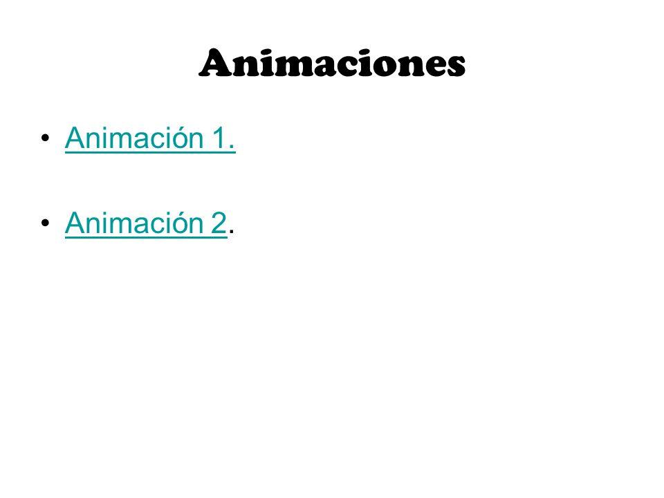 Animaciones Animación 1. Animación 2.Animación 2