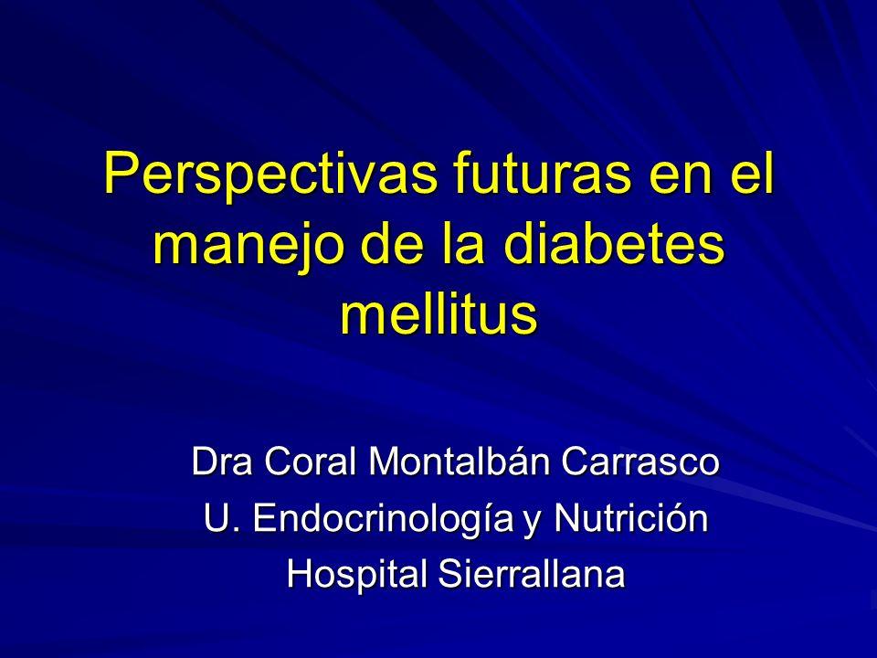 Perspectivas futuras 1. Tratamiento 2. Monitorización de la glucosa 3. Curación de la diabetes