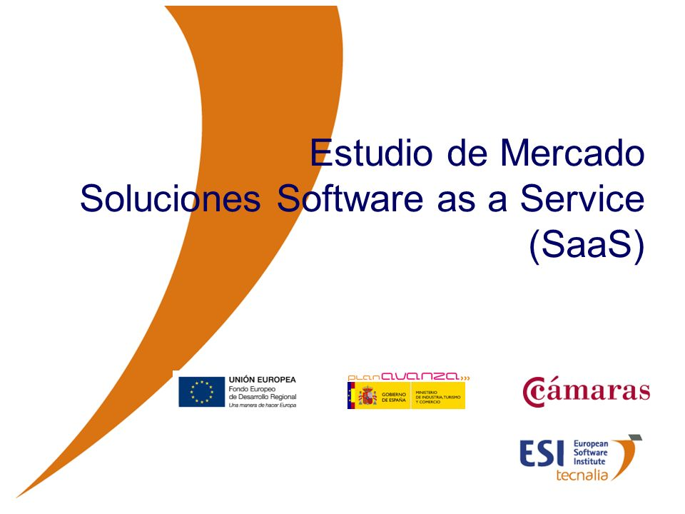© ESI 2009112 ESTUDIO DE MERCADO DE SOLUCIONES SaaS Conclusiones Para finalizar este estudio de mercado, se detallan las conclusiones que se pueden extraer sobre la oferta SaaS a nivel nacional.