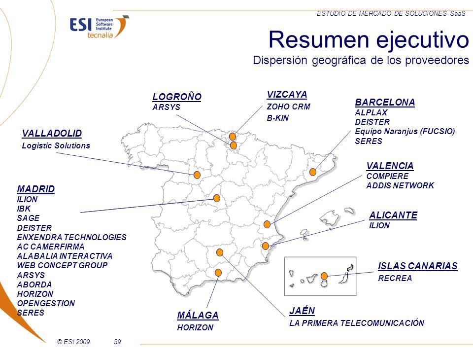 © ESI 200939 ESTUDIO DE MERCADO DE SOLUCIONES SaaS MADRID ILION IBK SAGE DEISTER ENXENDRA TECHNOLOGIES AC CAMERFIRMA ALABALIA INTERACTIVA WEB CONCEPT