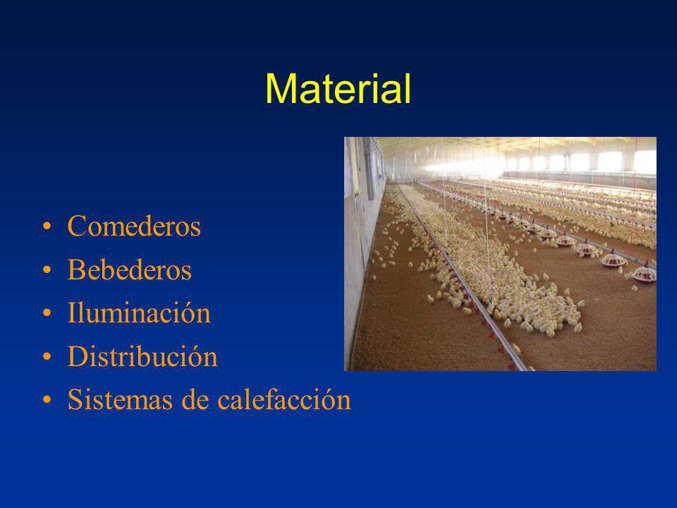 Material Comederos Bebederos Iluminación Distribución Sistemas de calefacción
