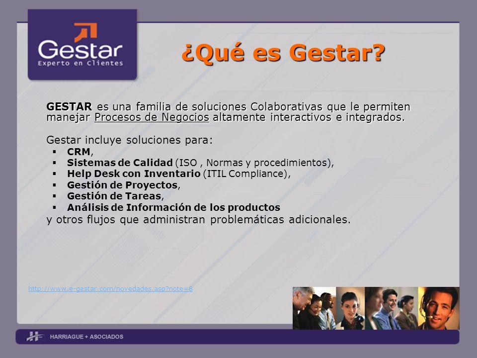 ¿Qué es Gestar? GESTAR es una familia de soluciones Colaborativas que le permiten manejar Procesos de Negocios altamente interactivos e integrados. Ge