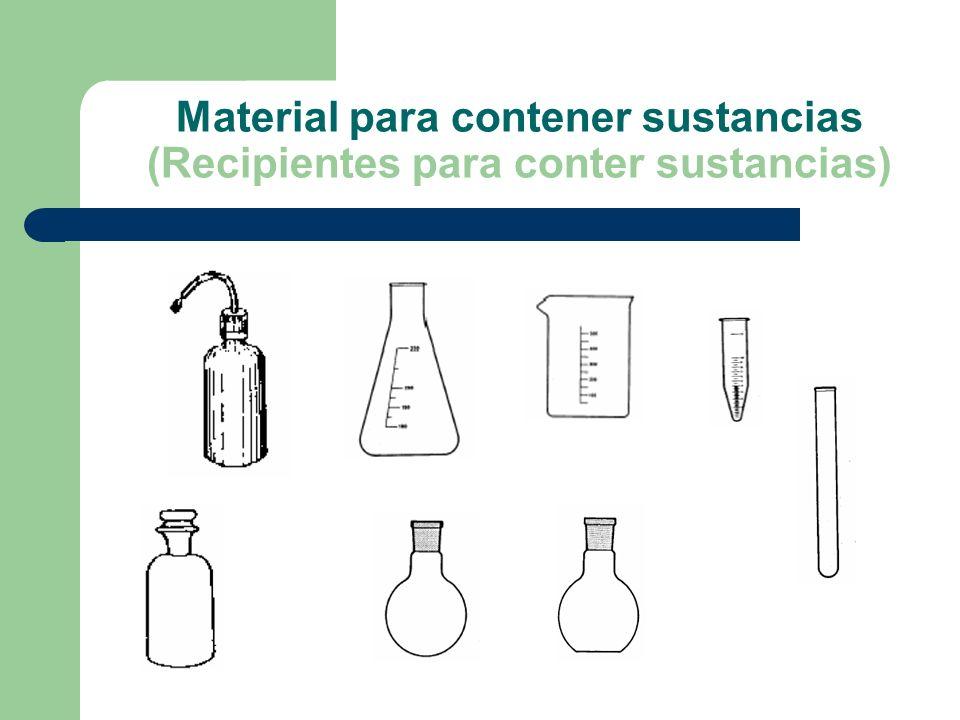 Material para contener sustancias (Recipientes para conter sustancias)
