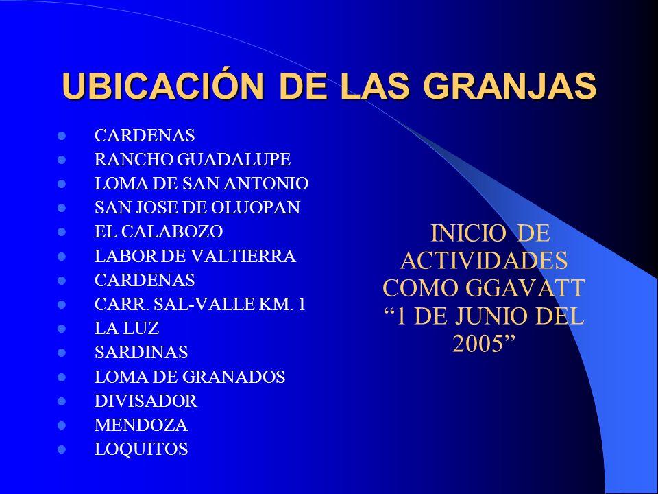 CARDENAS RANCHO GUADALUPE LOMA DE SAN ANTONIO SAN JOSE DE OLUOPAN EL CALABOZO LABOR DE VALTIERRA CARDENAS CARR. SAL-VALLE KM. 1 LA LUZ SARDINAS LOMA D