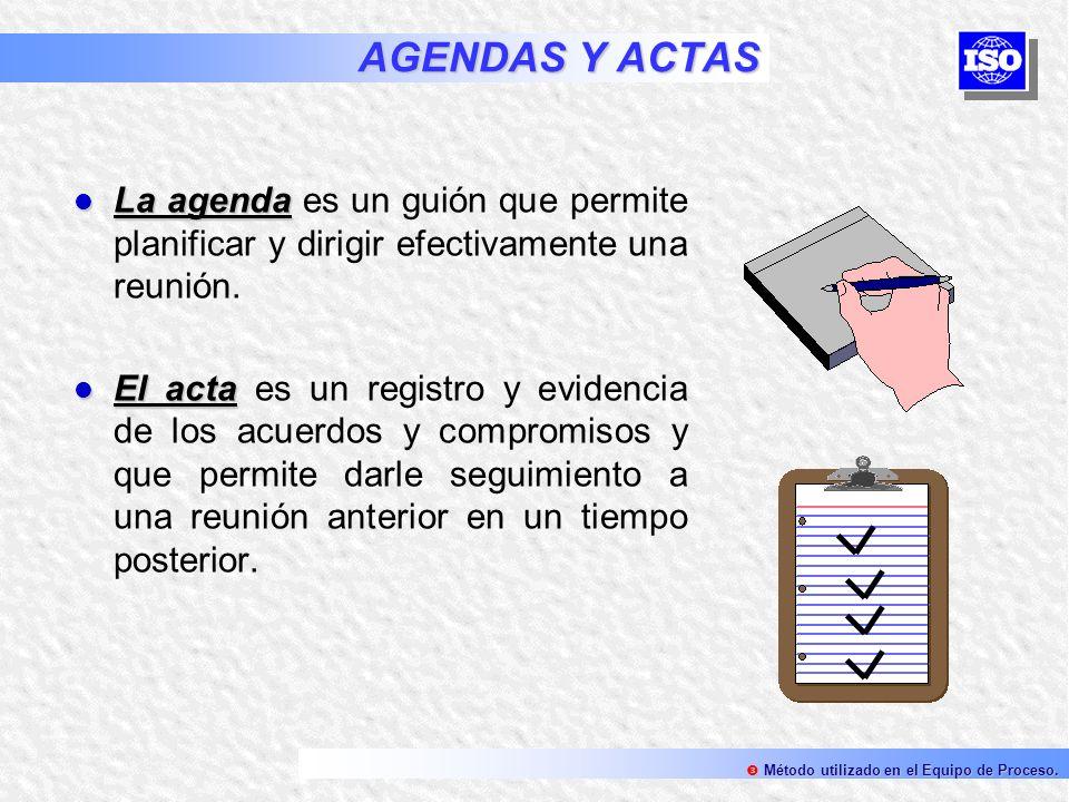 AGENDAS Y ACTAS La agenda La agenda es un guión que permite planificar y dirigir efectivamente una reunión. El acta El acta es un registro y evidencia