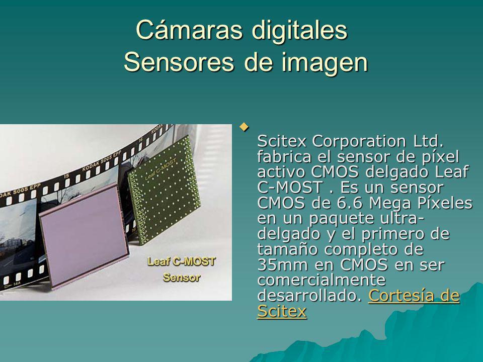 Scitex Corporation Ltd. fabrica el sensor de píxel activo CMOS delgado Leaf C-MOST. Es un sensor CMOS de 6.6 Mega Píxeles en un paquete ultra- delgado