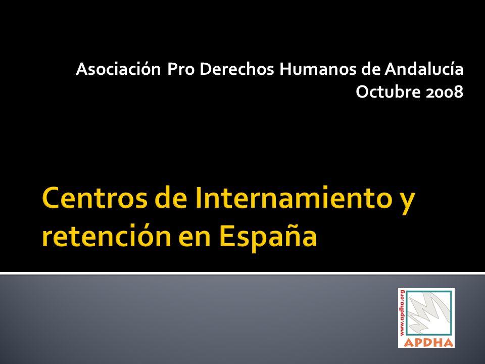 Asociación Pro Derechos Humanos de Andalucía Octubre 2008