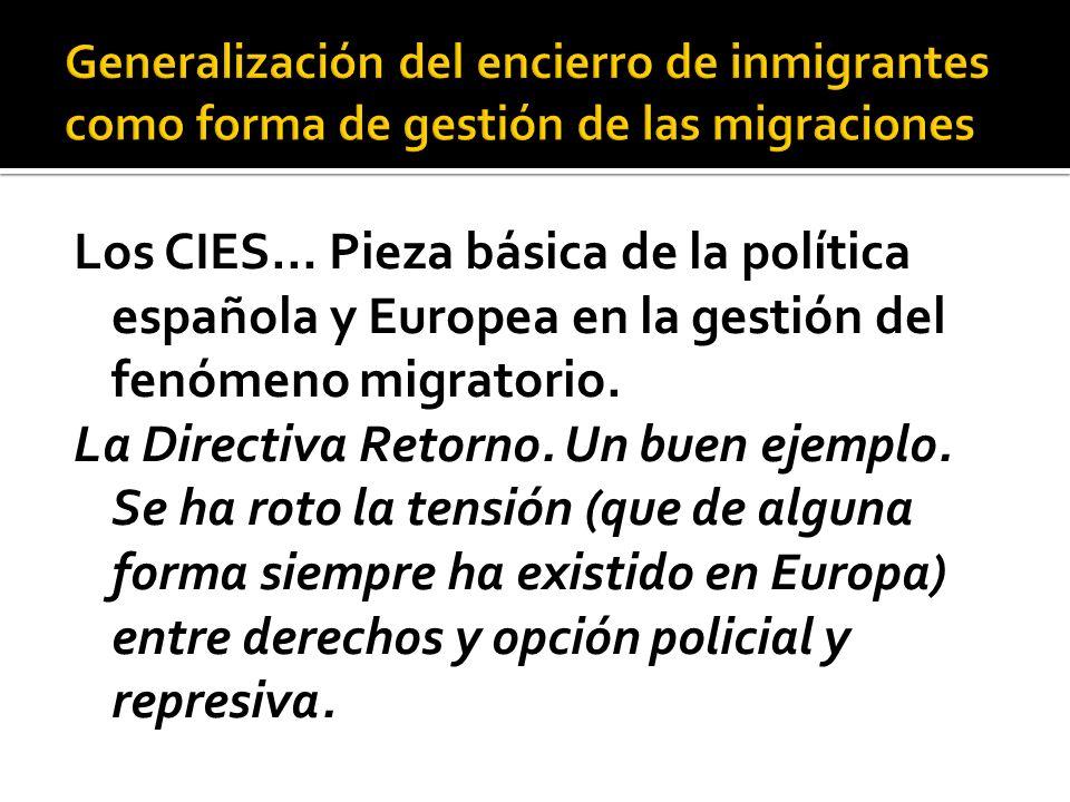 Los CIES… Pieza básica de la política española y Europea en la gestión del fenómeno migratorio.