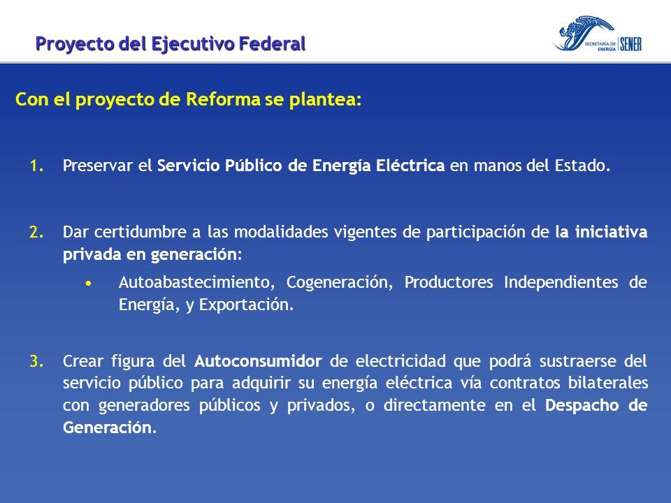 ...con el proyecto de Reforma se plantea: 4.Garantizar el Libre Acceso a las redes públicas de transmisión y distribución.