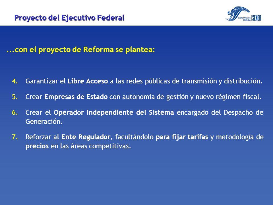 ...con el proyecto de Reforma se plantea: 8.Contar con un abasto confiable de Gas Natural nacional para no depender de importaciones.