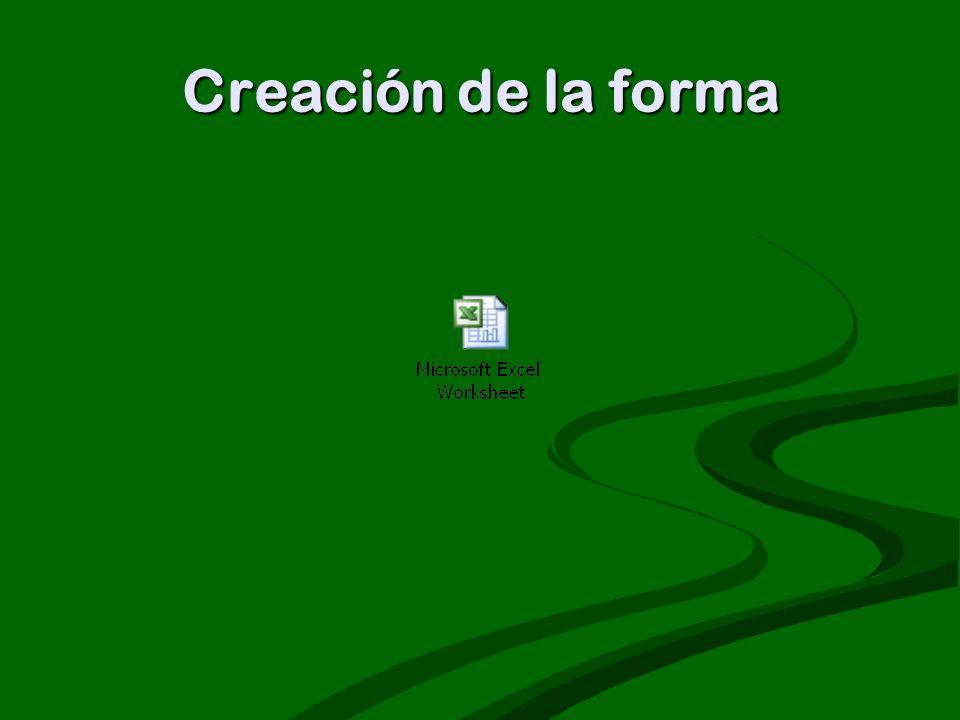 Creación de la forma