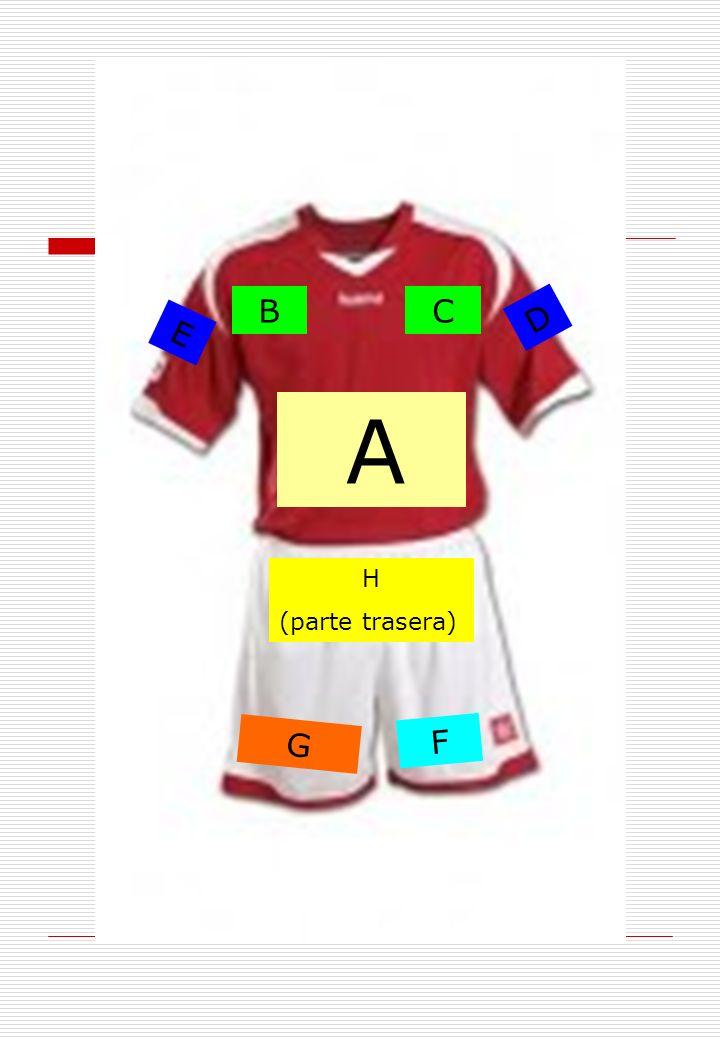 H (parte trasera) A BC D E F G