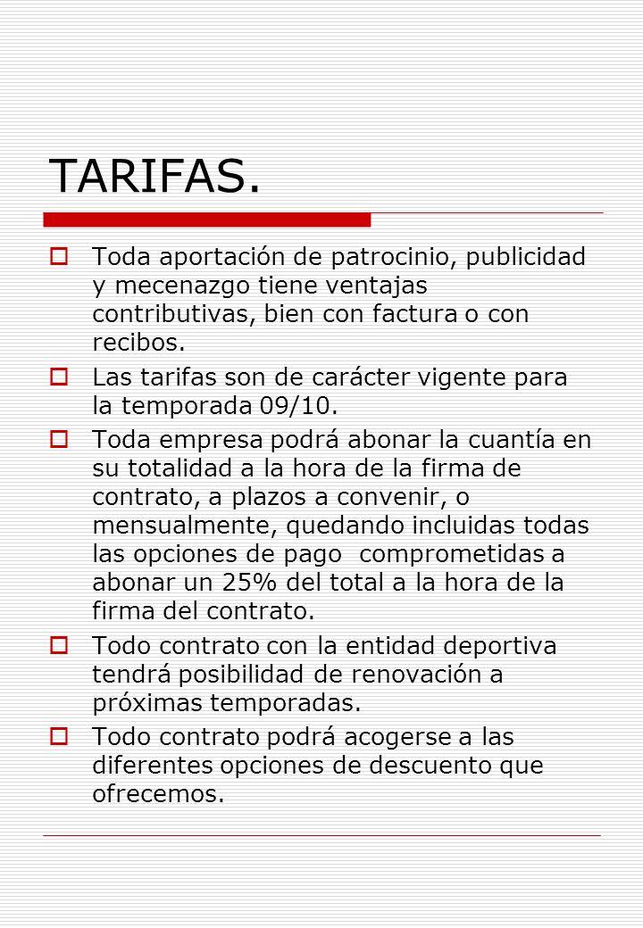 TARIFAS.