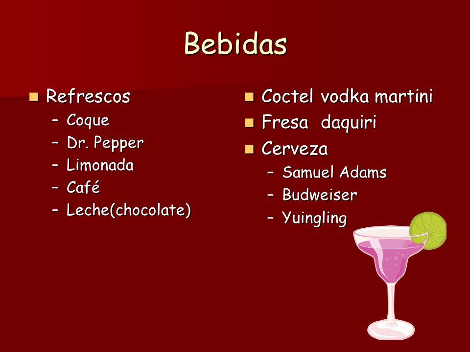 Bebidas Refrescos Refrescos –Coque –Dr.