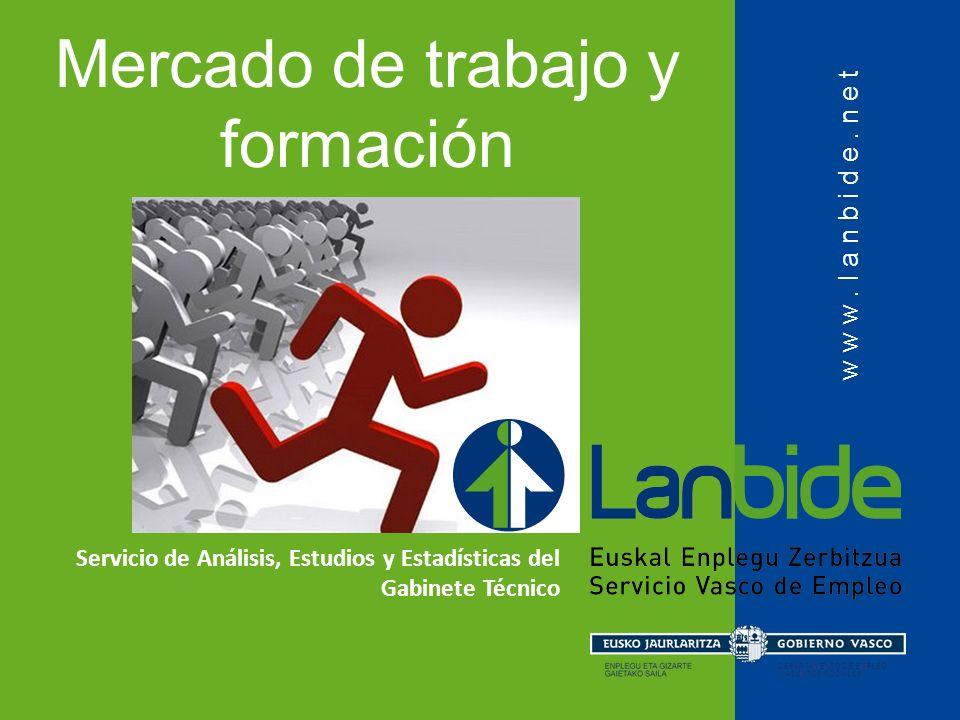 www.lanbide.net Mercado de trabajo y formación Servicio de Análisis, Estudios y Estadísticas del Gabinete Técnico